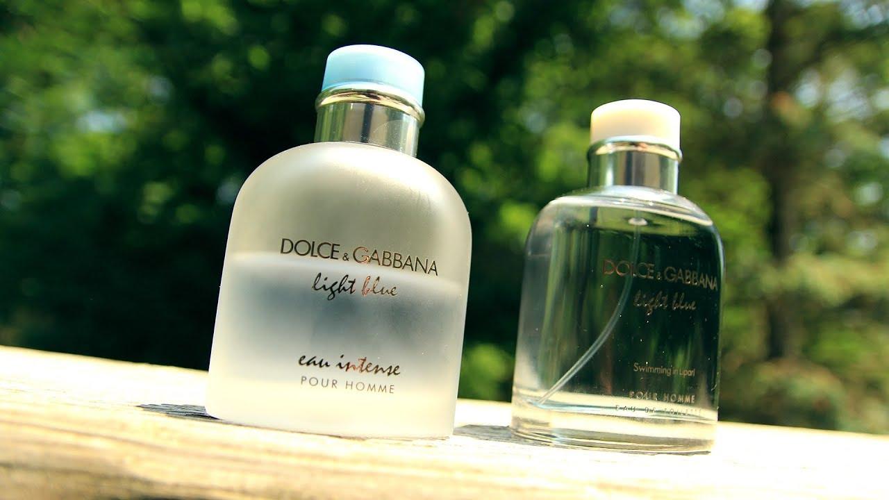 bad8571879 LIGHT BLUE EAU INTENSE VS LIGHT BLUE SWIMMING IN LIPARI   Best D&G Light  Blue Fragrance For Summer