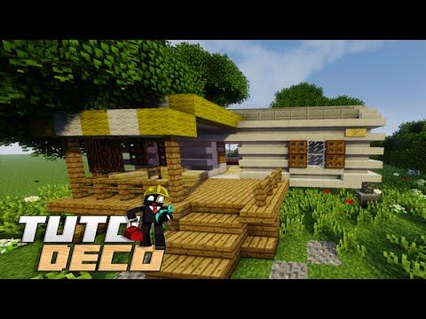 minecraft construire un mobil home interieur tuto deco youtube. Black Bedroom Furniture Sets. Home Design Ideas