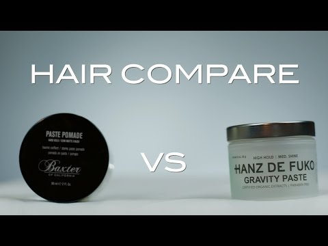 Baxter Paste Pomade VS HDF Gravity Paste | HAIR COMPARE | Wavy Hair Comparison
