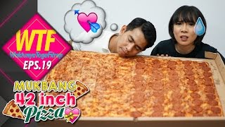 #WTF 19 MUKBANG INDONESIA 42 INCH PIZZA! | fitrop