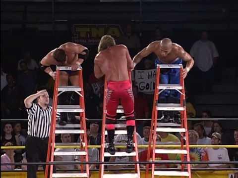 Triple Ladder Match: AJ Styles vs. Jerry Lynn vs. Low Ki