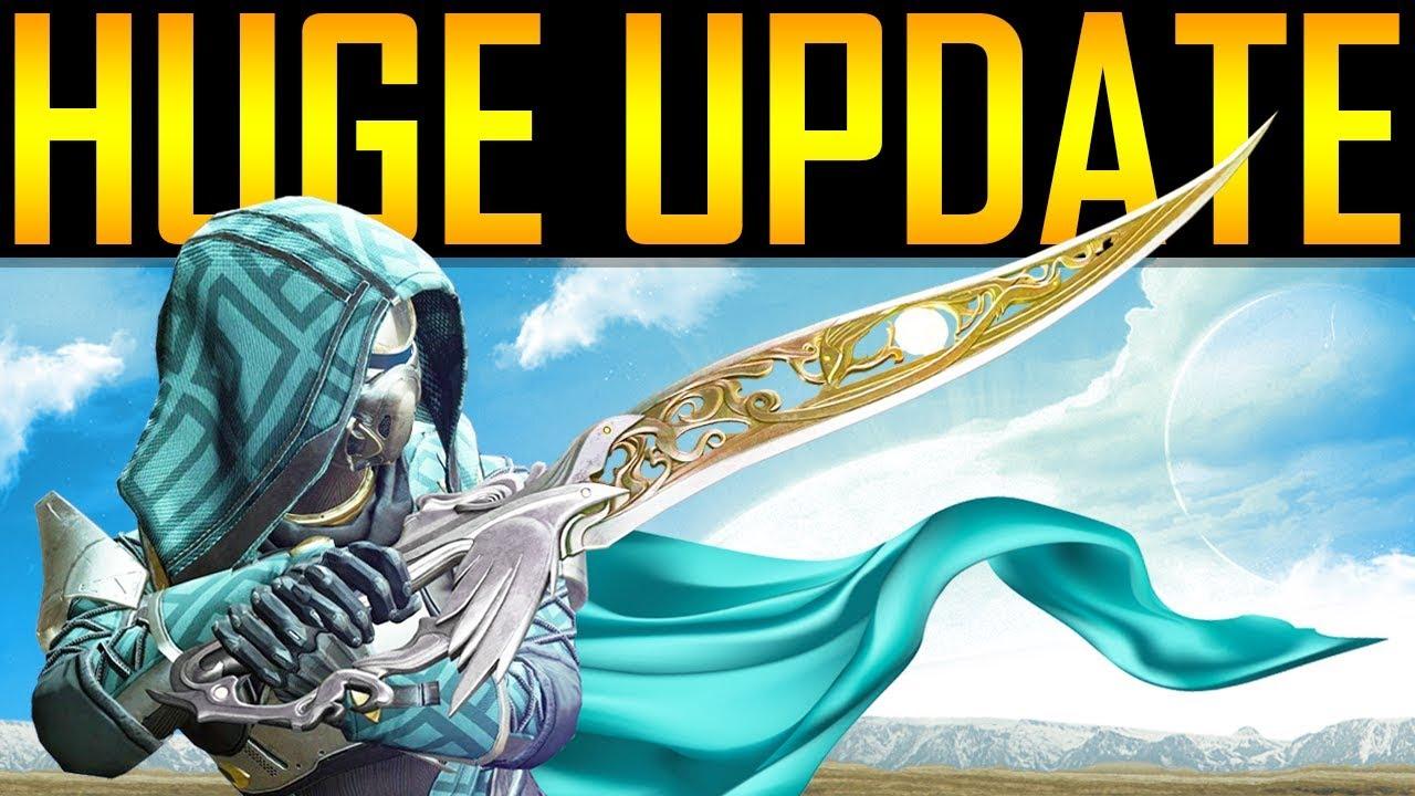 Destiny 2 - WOW! HUGE GAME UPDATE! NEW SECRETS! Exotics! thumbnail