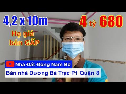 Chính chủ Bán nhà Quận 8 Dương Bá Trạc phường 1 Quận 8, gần cầu Nguyễn Văn Cừ