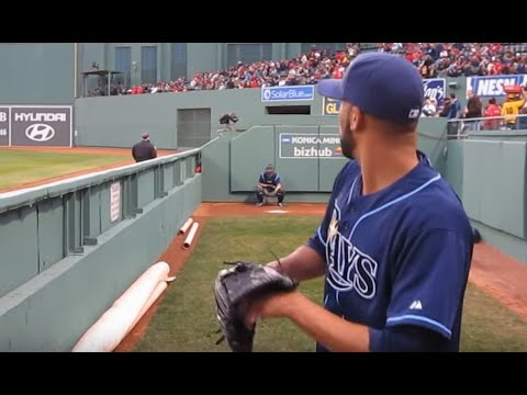 David Price Bullpen- Fenway Park April 12, 2011. WWW.BULLPENVIDEOS.COM