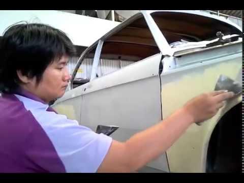 อู่ทำสีรถยนต์ Big 5 Auto Body Shop ขั้นตอนการโปว์สีกลบรอยฯ 1975 BMW Coupe !
