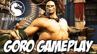 Mortal Kombat X - Jogando com GORO Fatality, Brutality e variações