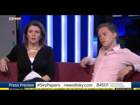 Owen Jones walks off Sky News paper review