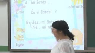 Leciono en la  Baiyangshujie-elementernejo en Taiyuan, Chinio