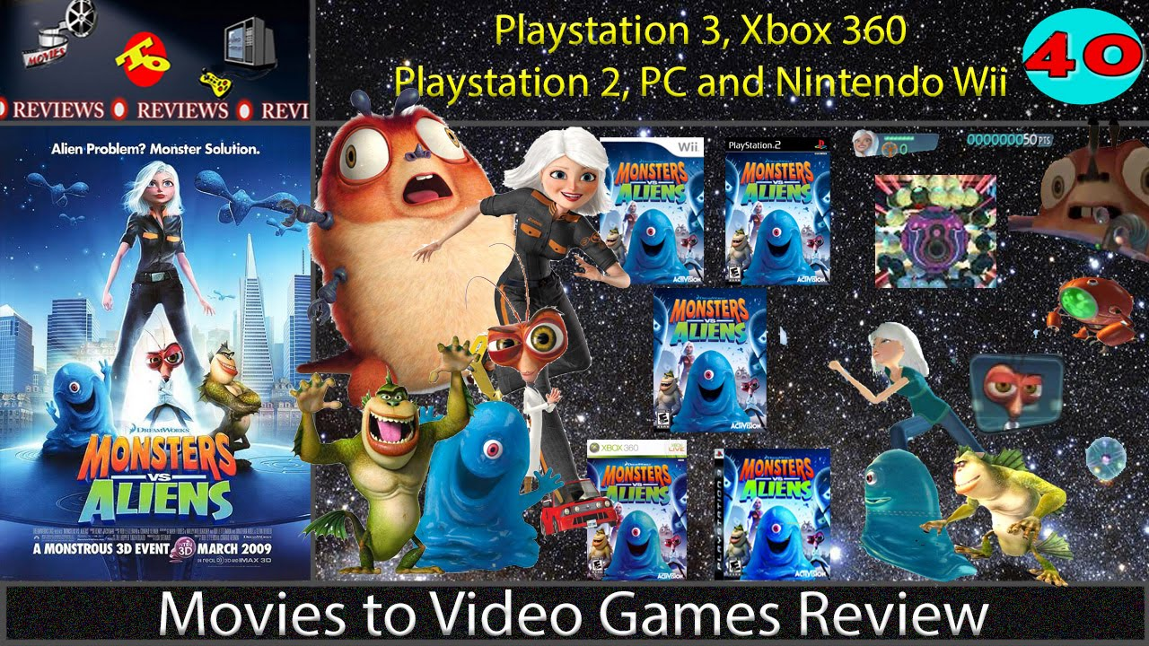Movies To Video Games Review Monsters Vs Aliens Ps3 Xbox360 Wii Ps2 Pc Youtube