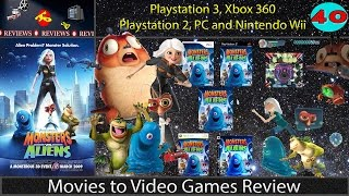 Movies to Video Games Review - Monsters vs. Aliens (PS3, Xbox360, Wii, PS2, PC)