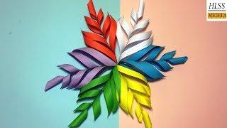 How to make 3D snowflake paper | DIY paper snowflake tutorial thumbnail