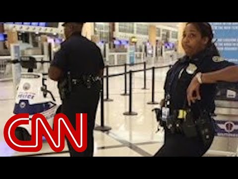 Never a typical night for police at Atlanta airport