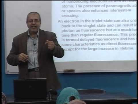 Lecture 29: Molecular Luminescence Spectroscopy(2)