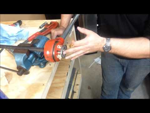 How to thread  gas pipe and install a Dyna-Glo blue flame heater