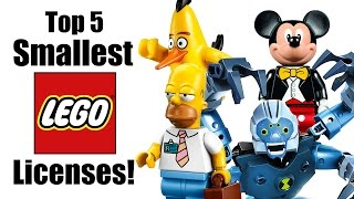 Top 5 Smallest LEGO Licensed Themes!