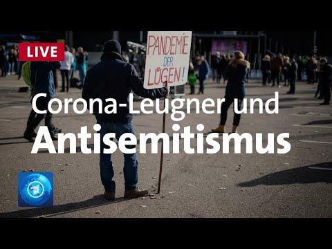 Pressekonferenz: Gefahr durch Antisemitismus und Corona-Leugner-Szene