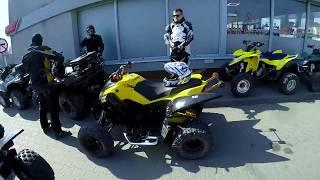Quad Vlog / Drifty na yamaha grizzly 700 / zerwany lancuch / przeprawowe quady za pol banki