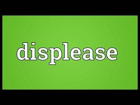 Header of displease