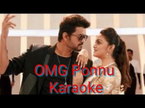 """Sarkar-OMG Ponnu Karaoke Video Thalapathy Vijay, Keerthy Suresh A .R. Rahman A.R Murugadoss"""