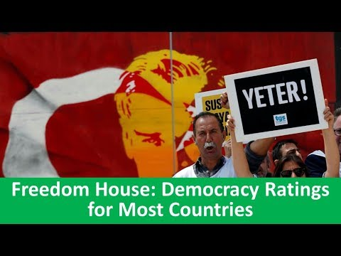 Learn English with VOA News - Freedom House: Democracy Ratings for Most Countries