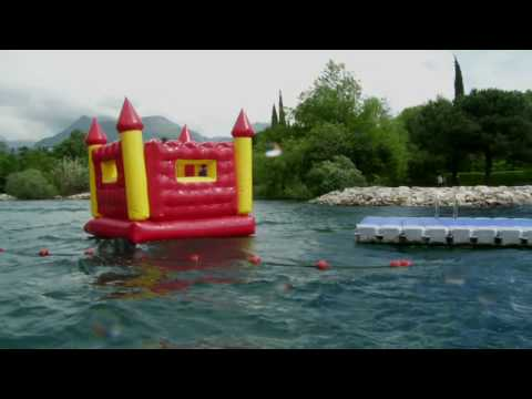 Thumbnail: An Englishman's boat is his [bouncy] castle