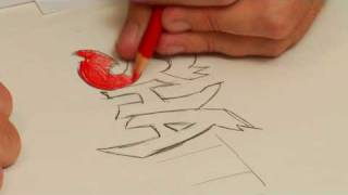 Drawing Anime & Cartoon Characters : How to Draw Graffiti Names