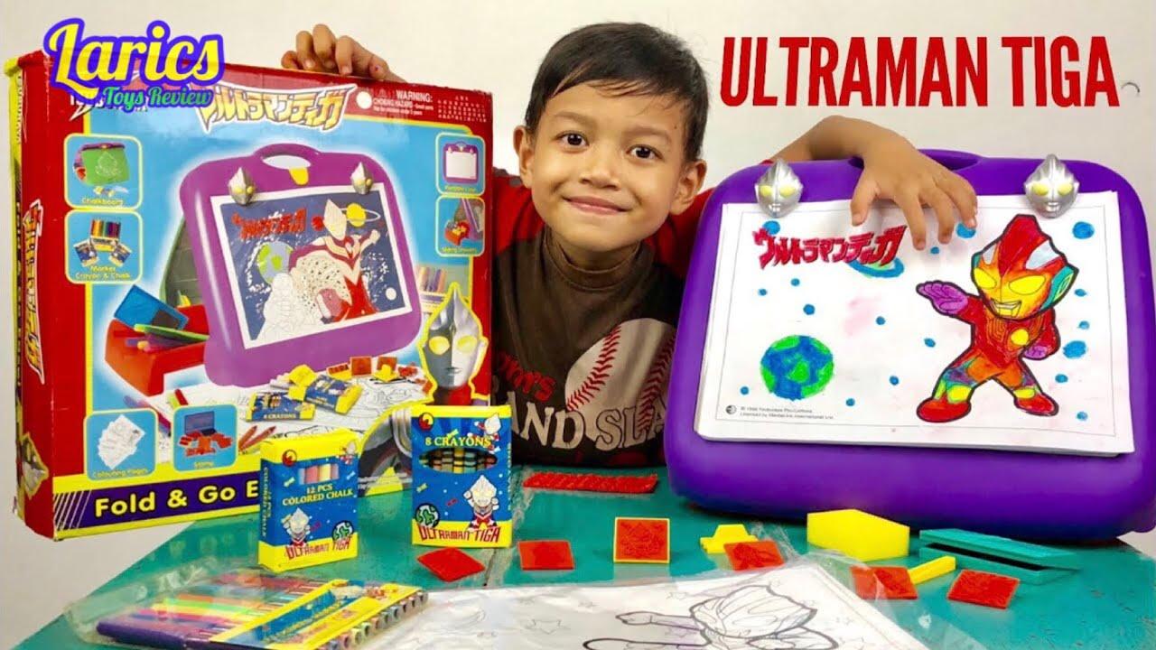 Unboxing Ultraman Tiga Meja Gambar Mewarnai Bagus Banget
