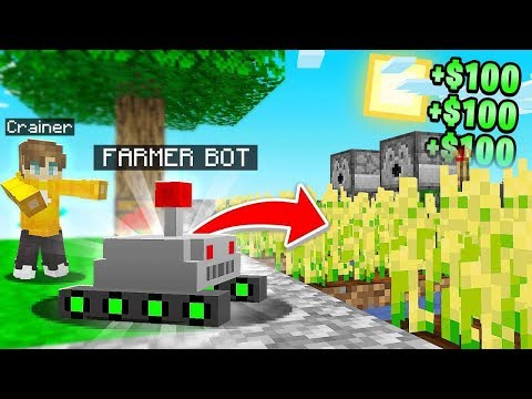I Made A FARMING ROBOT In Minecraft Sky Block!