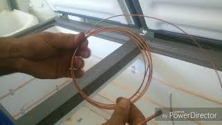Evaporador de freezer com cano cobre de 1/4