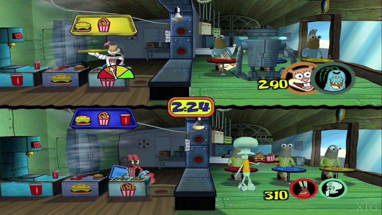 SpongeBob SquarePants Lights Camera Pants PS2 Gameplay