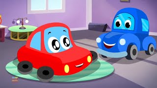 Wake Up Song | Little Red Car Cartoons | Videos for Babies