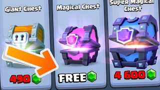 "GET A ""FREE MAGICAL CHEST"" NOW!! Fast & EASY Method In Clash Royale Using Chest Cycle!"