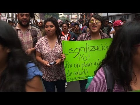 Mexicans rally for legalisation of recreational marijuana