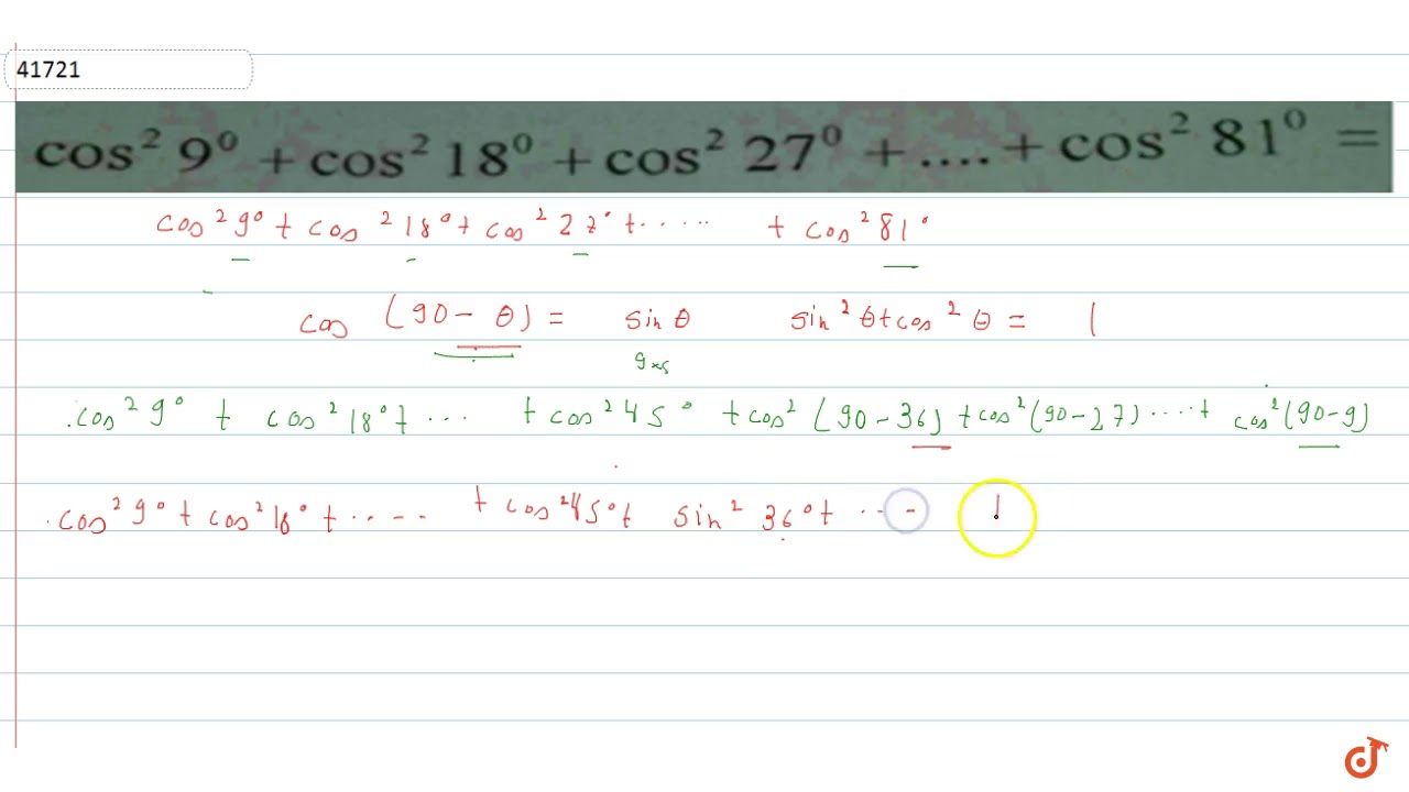 Cos^2