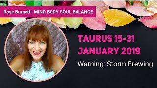 Taurus 15 - 31 January 2019 *Warning: Storm Brewing*