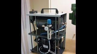 Homemade silent air compressor (using a refrigerator motor)