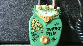 Danelectro Back Talk reverse delay demo
