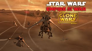Second battle of Geonosis   Star wars Empire at war the Clone Wars mod #2