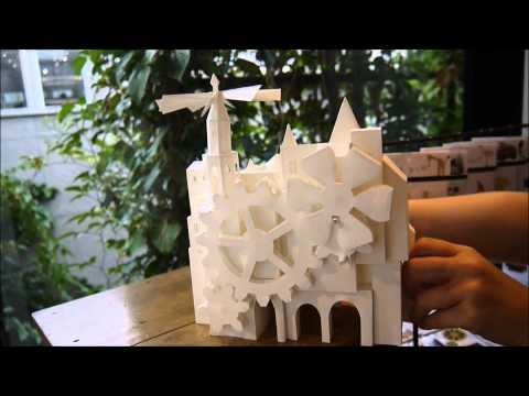水辺の町 Town on the waterside|Paper Automata