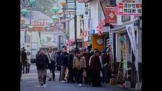 玉島通町商店街が昭和の商店街に RNCニュース放送 2015,2.24.