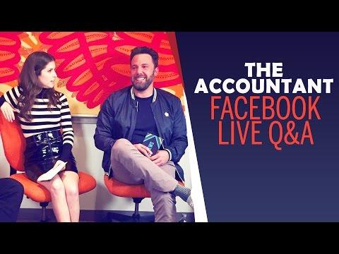 [Part 2] Ben Affleck & Anna Kendrick - THE ACCOUNTANT Facebook Live Q&A