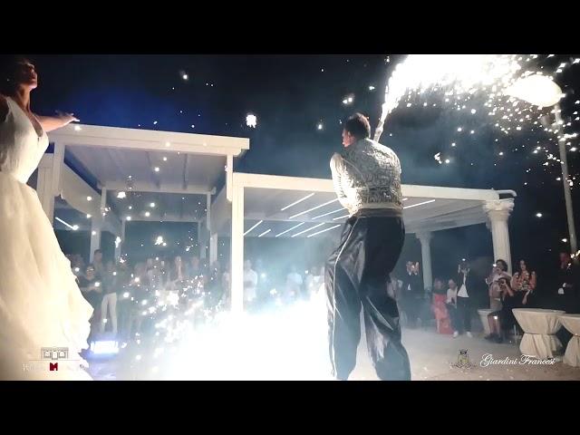 Spettacolo pirotecnico trampoli matrimonio - Artisti di strada Puglia e Sud Italia