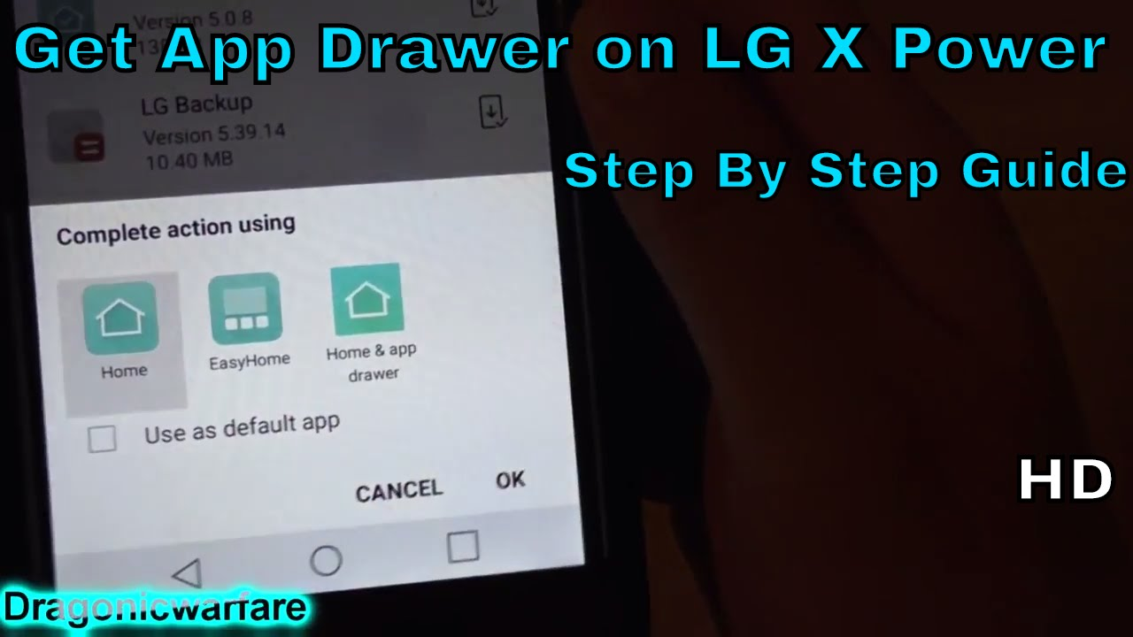 How to Get App Drawer on LG X Power (HD)