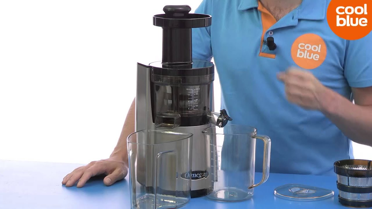 Slowjuicer Coolblue : Omega vSJ843RS Slowjuicer Productvideo (NL/BE) - YouTube