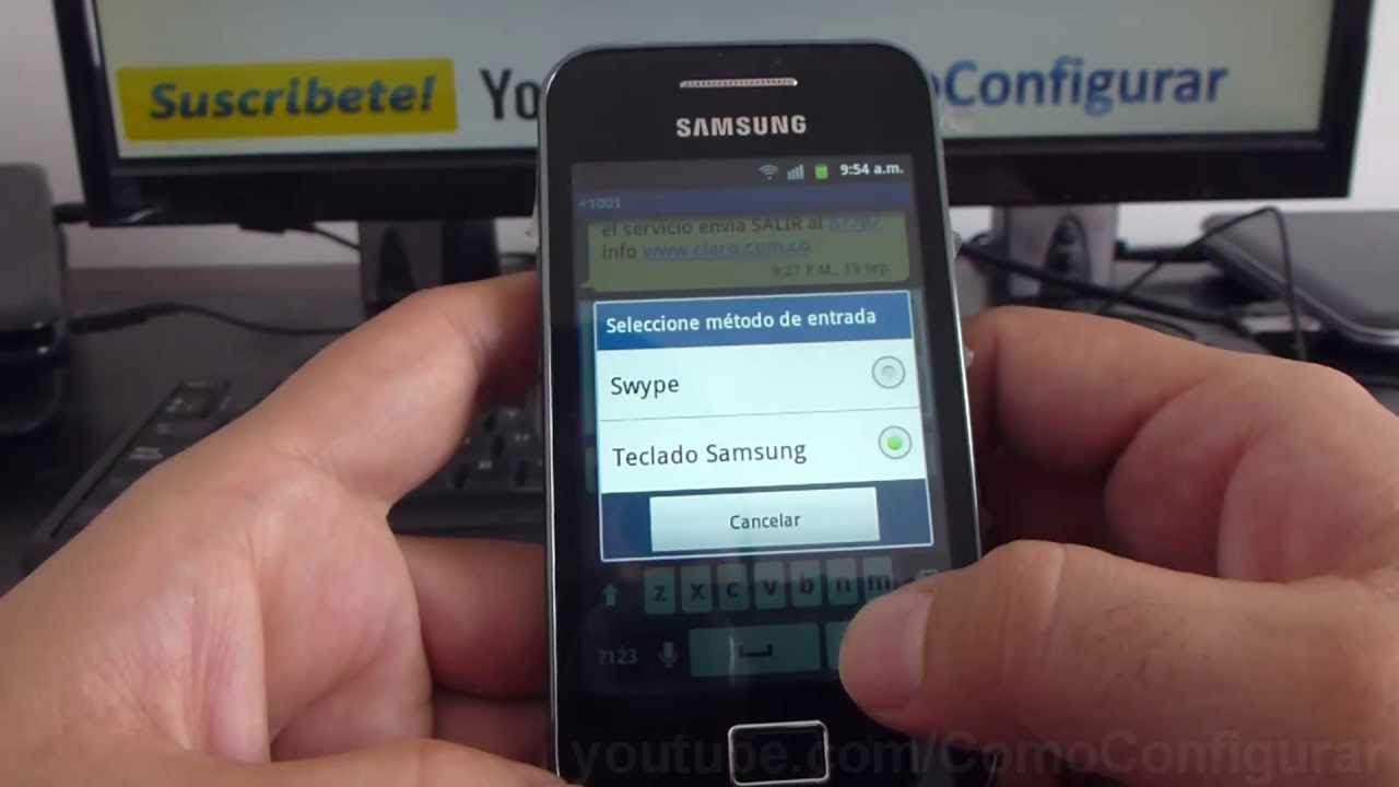 como configurar teclado del samsung galaxy ace s5830 espa ol full hd rh youtube com Samsung Galaxy Ace S5830 Unlocked Samsung Galaxy Ace GT-S5830