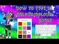 How to type in colour on hotel hideaway