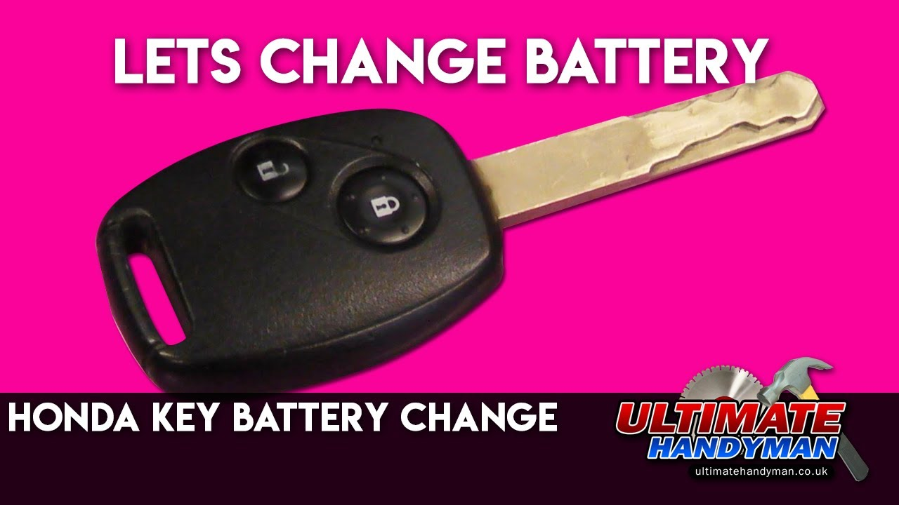 Honda Key Battery Change Youtube