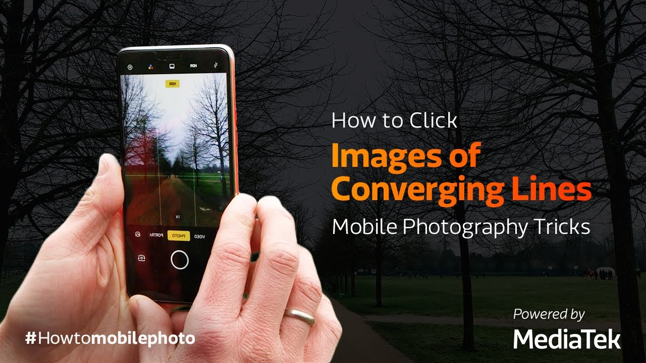 How to Click Symmetrical Images of Converging Lines   Mobile Photography Tricks