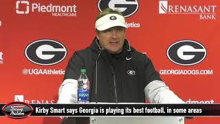 Georgia football coach Kirby Smart says Georgia is playing its best football
