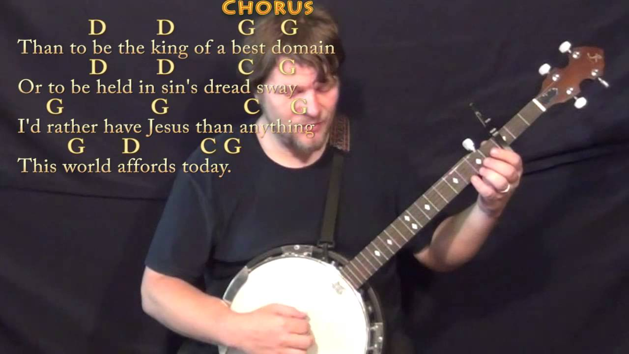Id Rather Have Jesus George Beverly Shae Banjo Cover Lesson With